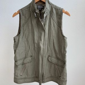 Michael Stars Linen Zip Up Vest
